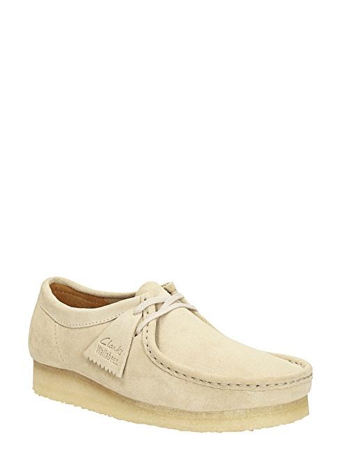 Clarks %100 Deri Bağcıklı Ayakkabı Beyaz